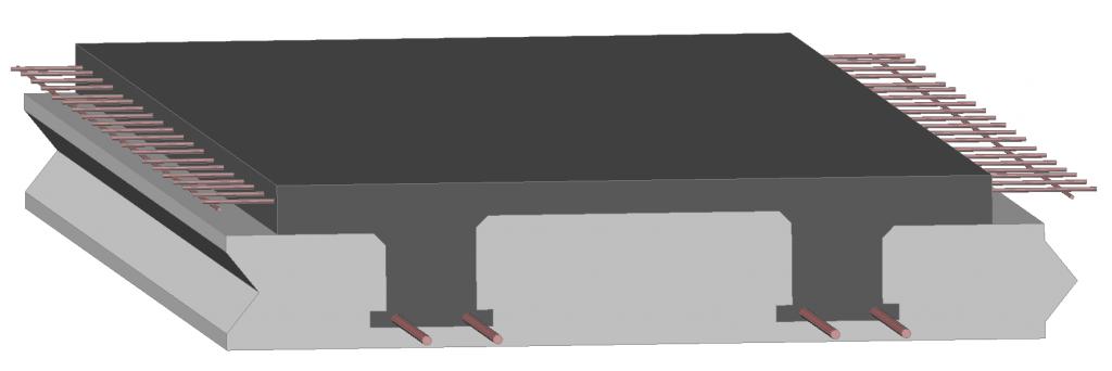 Lastre autoportanti coibentate Bausystem solaio render