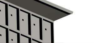 Pensilina standard per loculi cimiteriali
