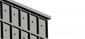 copertura senza aggetto per loculi cimiteriali
